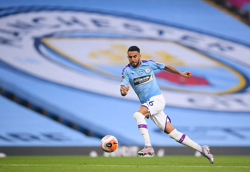 Riyad Mahrez del Manchester City    PHOTO/REUTERS