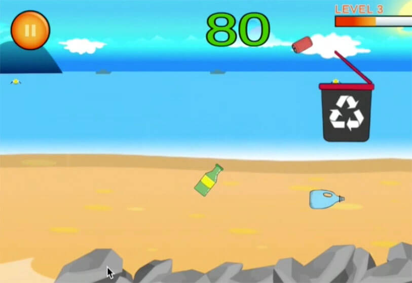 Captura de pantalla juego Clean my Beach