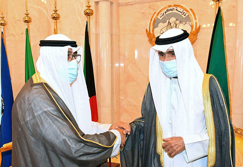 the emir of kuwait accepts the