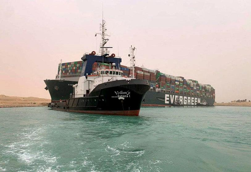Taiwanese container ship disrupts shipping in the Suez Canal