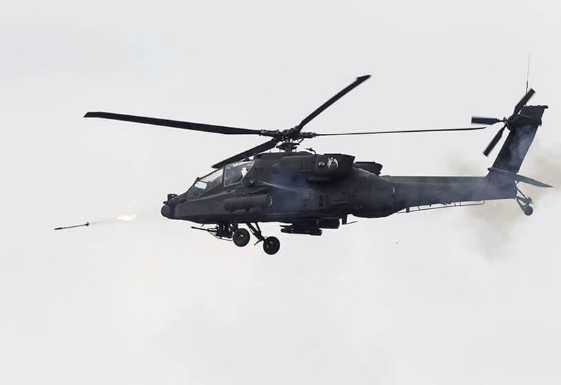 The U.S. Army AH-64 Apache helicopter