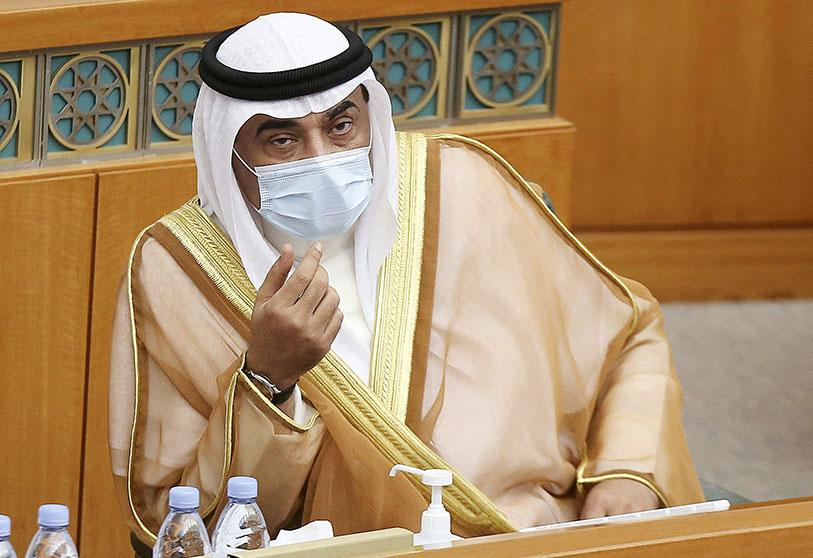 Kuwaiti Prime Minister Sheikh Sabah al-Khaled al-Sabah during a parliamentary session in the National Assembly of Kuwait on 12 August 2020