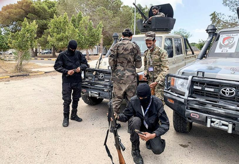 Troops loyal to the GNA in Tripoli, Libya, on July 6, 2020