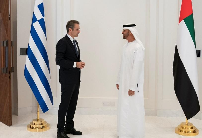Kyriakos Mitsotakis, Prime Minister of Greece, and Mohammed bin Zayed al-Nahyan, Crown Prince of Abu Dhabi