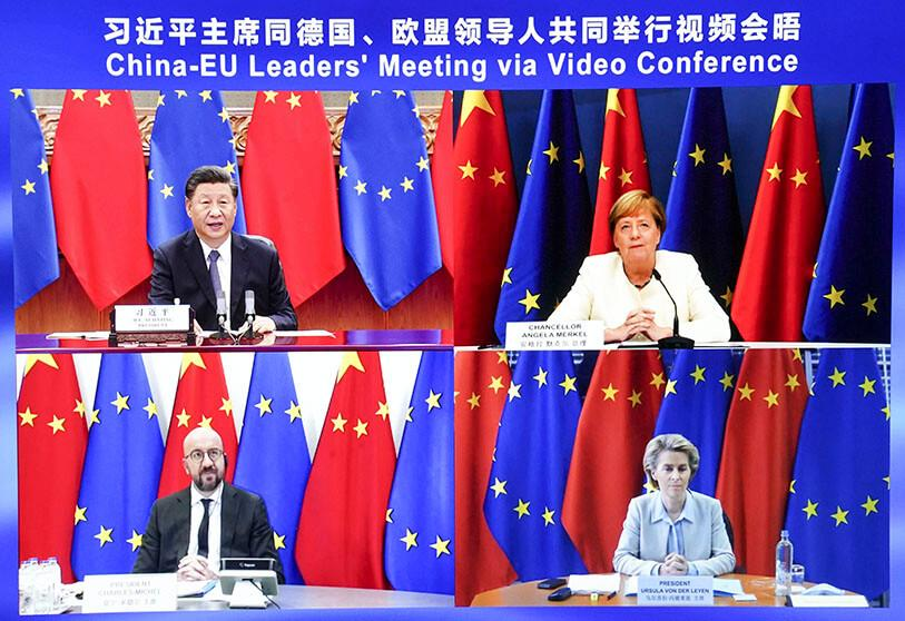 Líderes de la Unión Europea y China