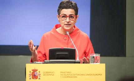 The Spanish Minister of Foreign Affairs Arancha González Laya